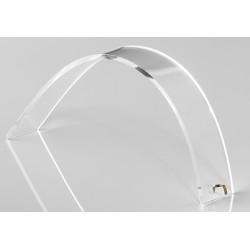 Support bracelet, forme accentué, transparent, plexiglass - 25x160 mm