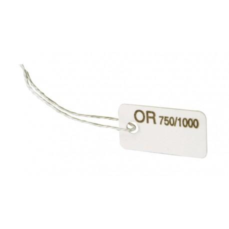 Lot 1000 etiq. carton a fil   8x16 n.19 Or 750/1000
