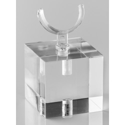 Support bague, forme U, transparent, plexiglass -30x27 mm