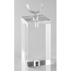 Support bague, forme U, transparent, plexiglass, 30x60 mm