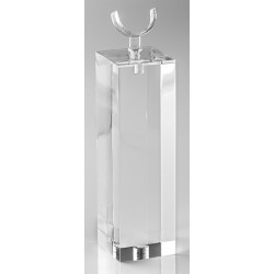Support bague, forme U, transparent, plexiglass - 30x100 mm