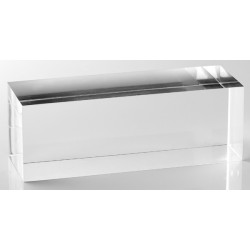 Rectangular base, transparent, plexiglass, 140/H50 mm