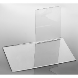 Présentoir transparent, plexiglass