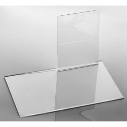 Présentoir transparent, plexiglass