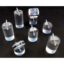 Lot de 7 Supports bagues, cylindriques, plexiglass
