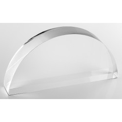 Support demi lune, transparent, plexiglass, H75 mm