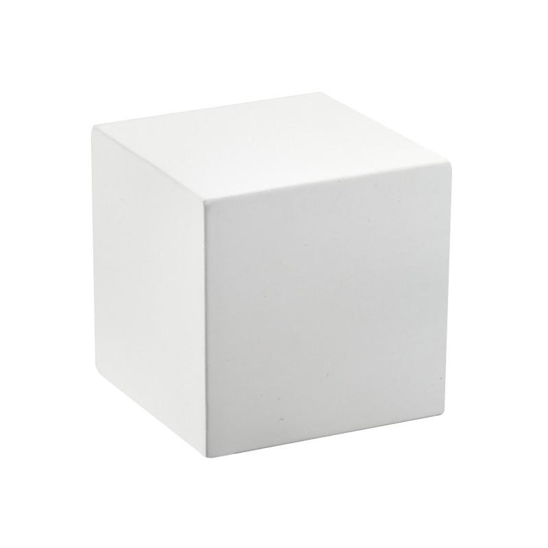 acheter socle carr bois blanc mat calisto h50 mm. Black Bedroom Furniture Sets. Home Design Ideas