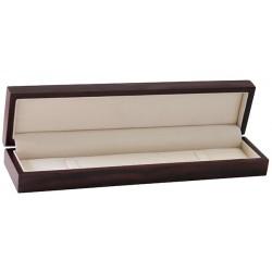 Ecrin bracelet long, en bois foncé,  59