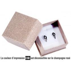 Ecrin à Boucles d'oreilles carré, en carton, Glitz26
