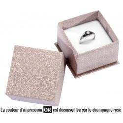 Ring box, cardboard, Glitz 26