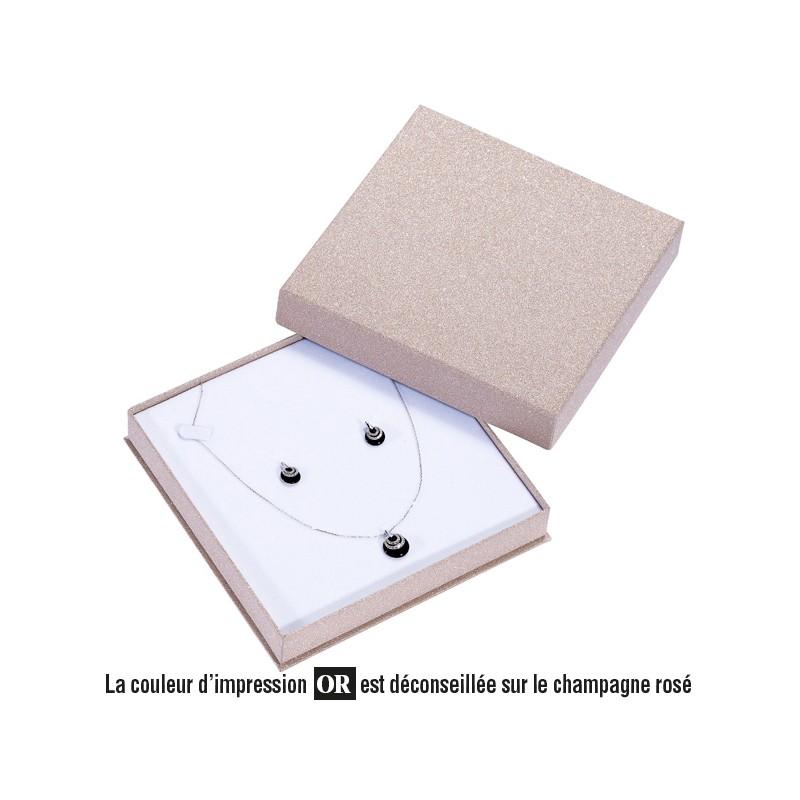 Acheter ecrin collier carr en carton glitz26 - Acheter carton colis ...