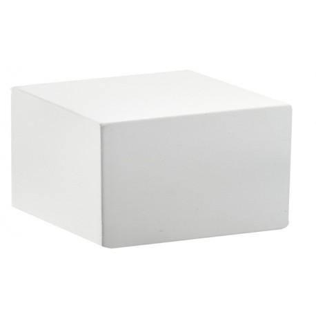 Lot de 5 socles carré bois laqué 30x30x20 h