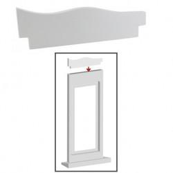 Accessoire décor, forme A, bois mat, calisto
