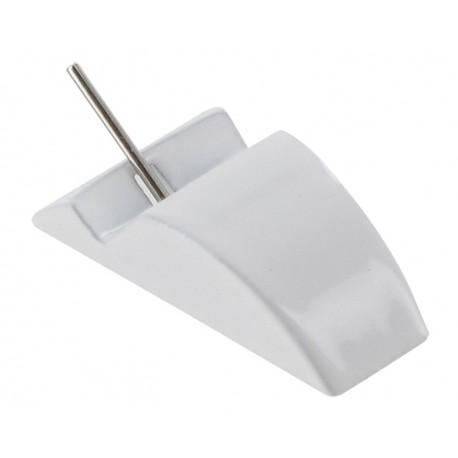 Lot de 50 supports métal tige acier Blanc tri