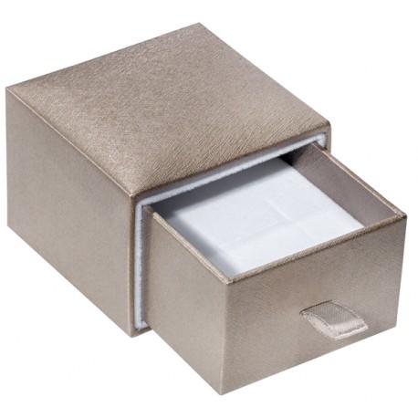 Ecrin à Bague languette, design plumier, en carton, SLID 37