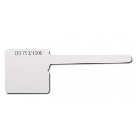 Lot 1000 etiquettes plast.ATEO 8x15 mm OR 750/00