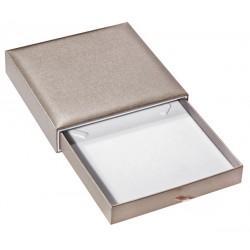 Ecrin à collier, design plumier, en carton, SLID 37