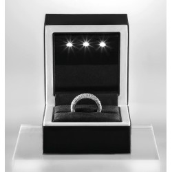Luxury box, covered with black/white soft touch, with leds, N29LED