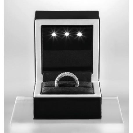 Ecrin luxe, Bois, recouvert soft touch noir/blanc, à leds, N°29LED