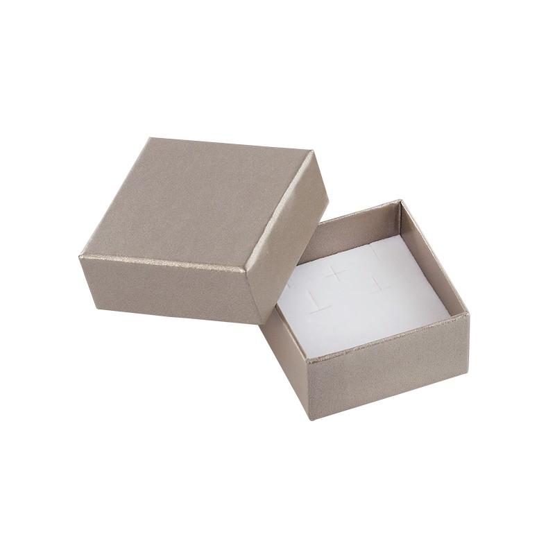 acheter ecrin boucles d 39 oreilles carr en carton soha 32. Black Bedroom Furniture Sets. Home Design Ideas