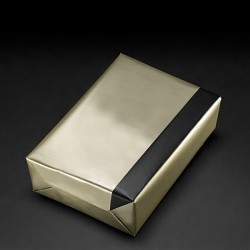 Bronze/black reversible gift paper, 30 cm wide, 250 m roll