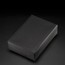 Gift paper black, width 30 cm, roll of 250 m