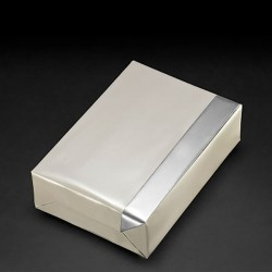 Reversible pearl/silver gift paper, 30 cm wide, 250 m roll