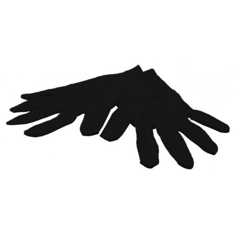 1 Paire gants noirs, bijouterie, taille L
