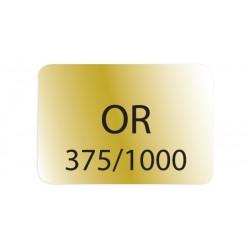 1000 etiq. adhes. 12x8 Fond Or   Lett.Noire  Or 375/1000